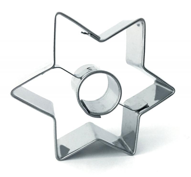 Ausstecher Stern mit Innenkreis 60x53mm