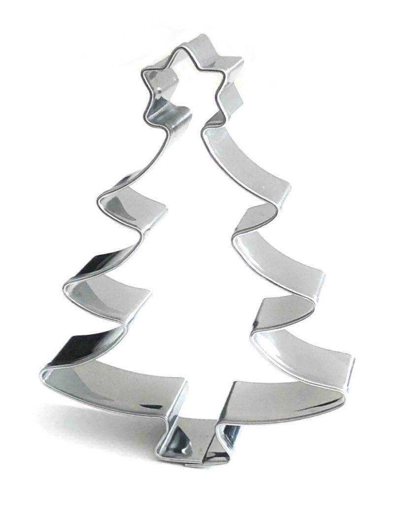 Ausstecher Weihnachtsbaum mit Stern  73x55mm