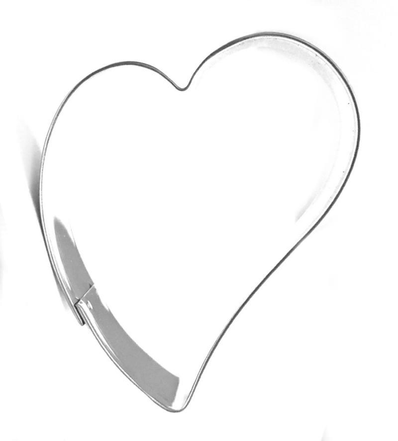 Ausstecher schiefes Herz 9cm