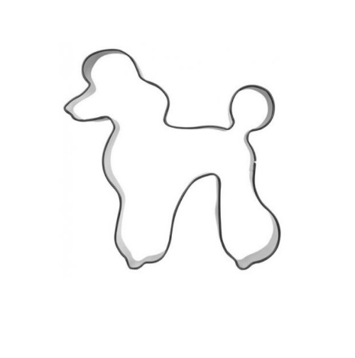 Ausstecher Pudel Hund 9cm