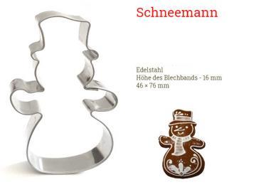 Ausstecher Schneemann 76x46mm