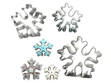 Ausstecher 3er Set Schneeflocken Kristall 5-7cm