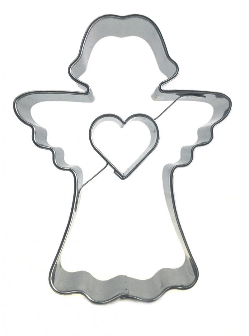 Ausstecher Engel mit Herz 77x58mm