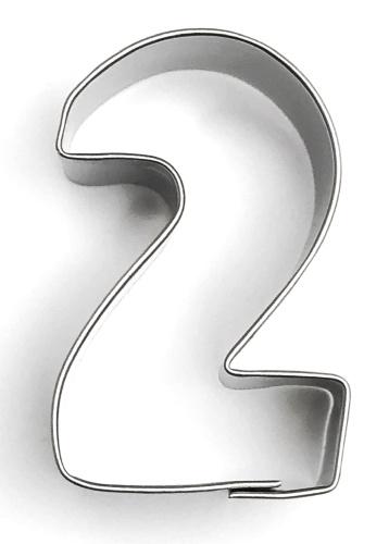 Ausstecher Zahl 2 (zwei) 4cm