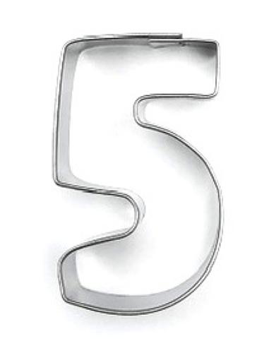 Ausstecher Zahl 5 (fünf) 4cm