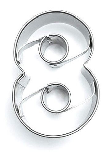 Ausstecher Zahl 8 (acht) 4cm