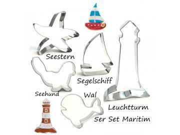 Ausstecher 5er Set Maritim