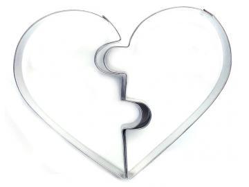 Ausstecher gebrochenes Herz