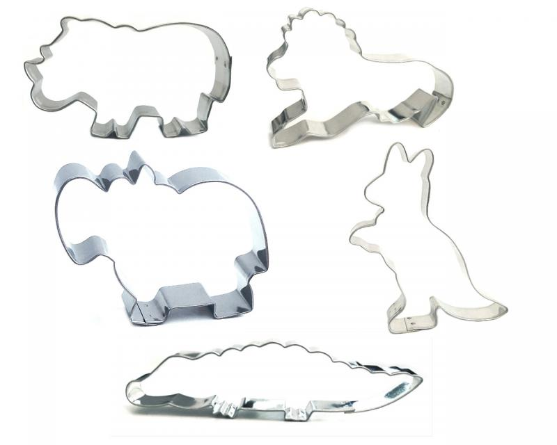 Ausstecher 5er Set Tiere Afrika 7-13cm