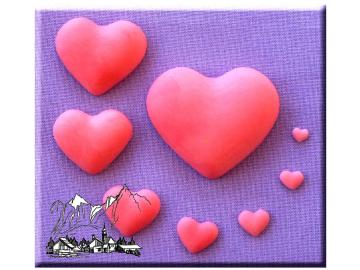 Silikonform Herz 8 Größen