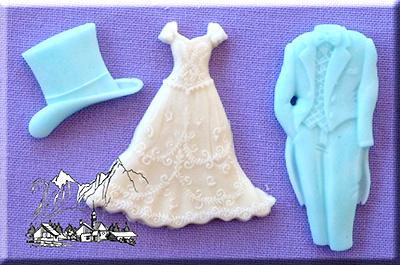 Silikonform Hochzeit