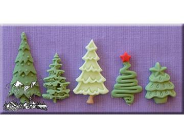 Silikonform Weihnachtsbäume