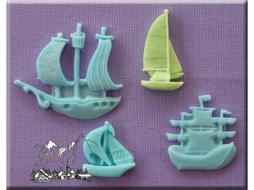 Silikonform 5 Segelboote