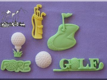 Silikonform Golf