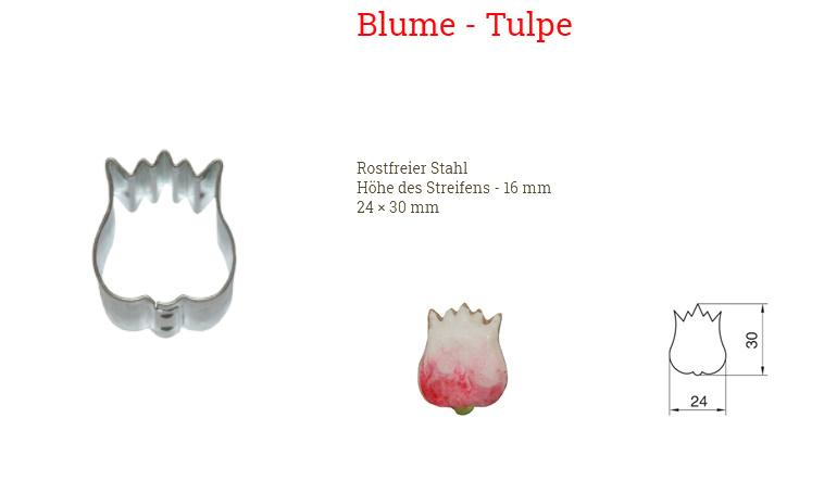 Ausstecher Tulpe 24x30mm