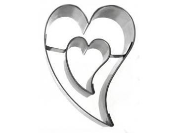 Ausstecher schiefes Herz/Herz Linzer