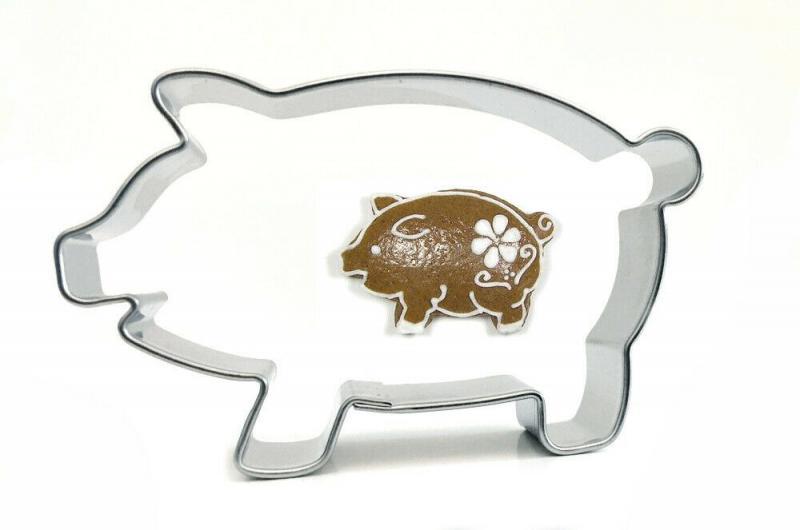 7er Set Ausstecher Ausstechform Set Glück Silvester mittlere mini Schwein Klee