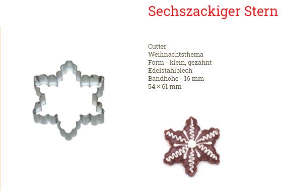 Ausstecher Linzer 2er Set 60x54mm Rosette