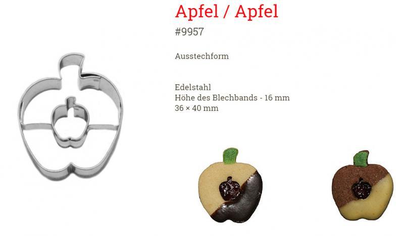 Ausstecher Apfel/Apfel