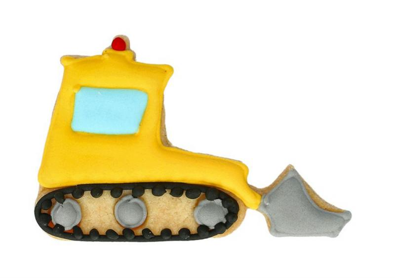 Ausstechform Bulldozer 8cm Edelstahl
