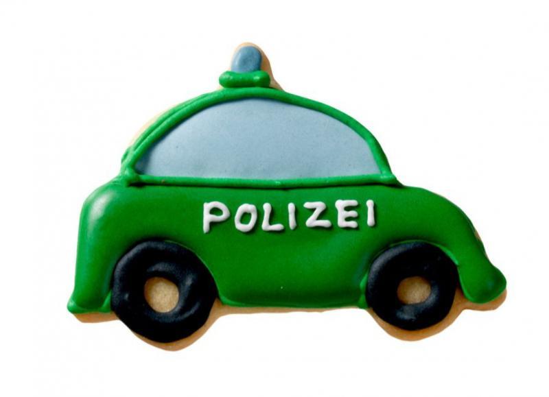 Ausstechform Polizei Auto Edelstahl