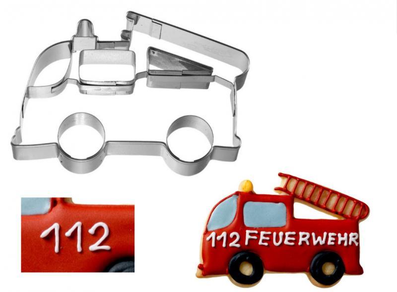 Ausstechform Feuerwehr Auto 9cm