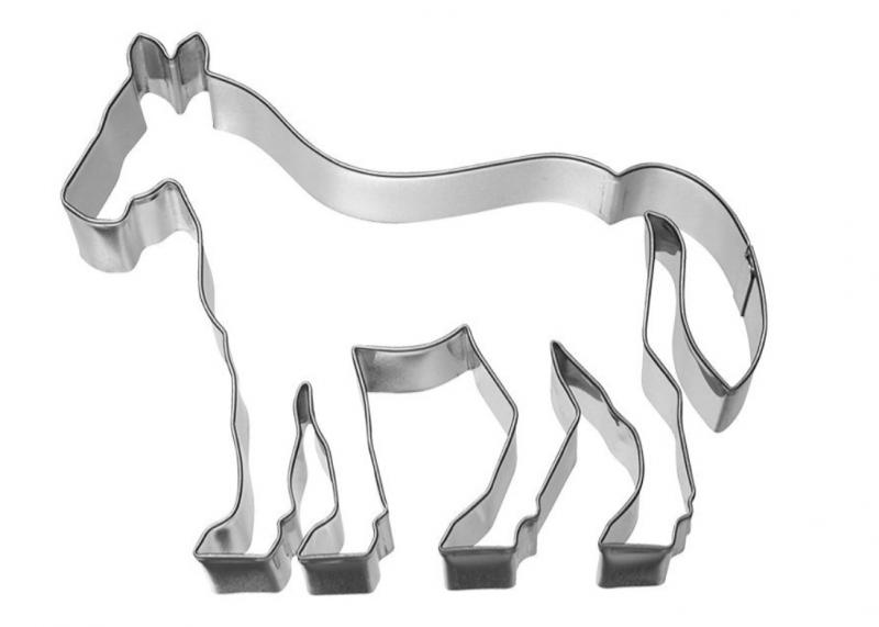 Ausstechform Pferd 12cm Edelstahl