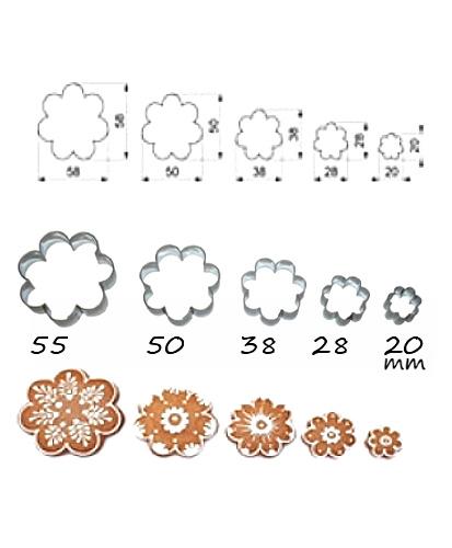 Ausstecher 5er Set Blüte