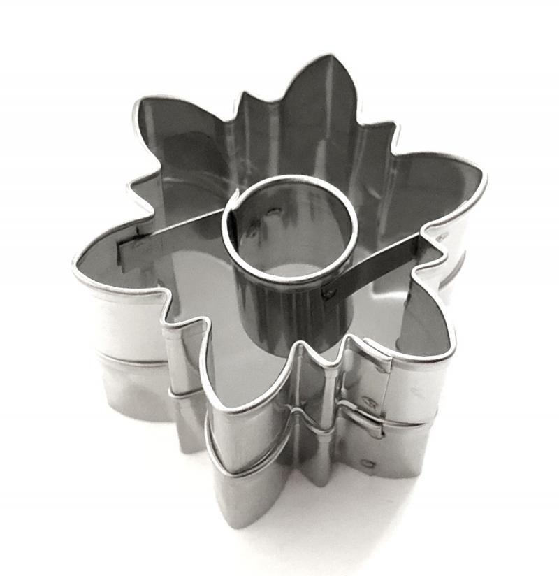 Ausstecher 2er Set Kristall/Blume 4,1cm