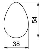 Ausstecher Ei /Unterteil 5,4cm