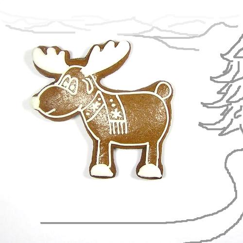 Ausstecher Weihnachten Elch