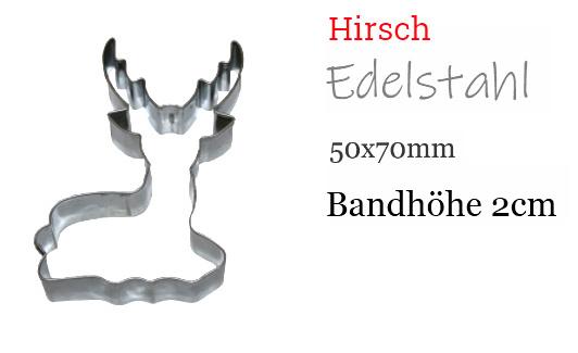 Ausstecher Hirsch 7cm