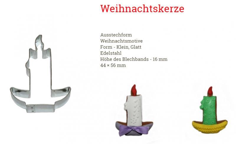 Ausstecher Kerze 44x56mm