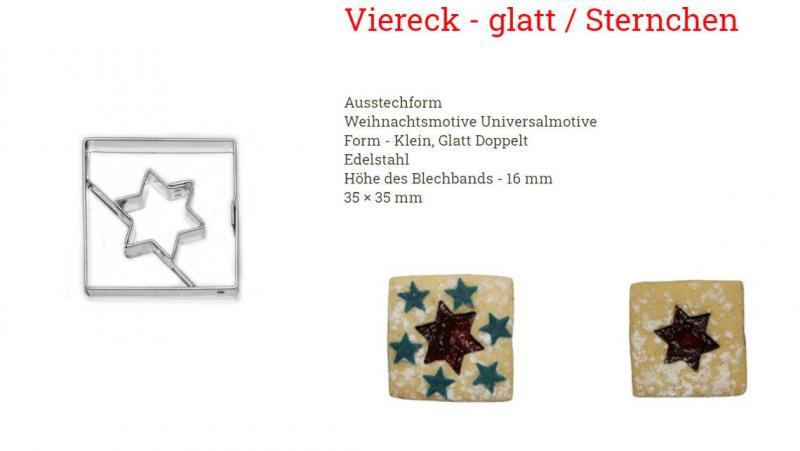 Ausstecher Linzer Viereck/Stern 3,6cm