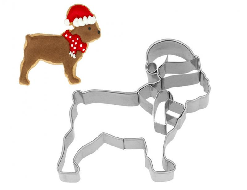 Ausstecher Weihnachts Bulldogge Edelstahl