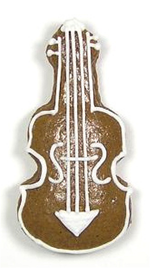 Ausstecher Geige  63x27mm